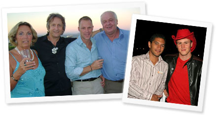 The Bond Man and his Barmen and The Bond Man with Olaf Dambrowski from O on Kloof
